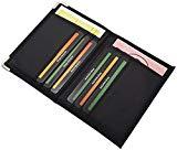 Porta carte d'identità e carte di credito in 2 diversi designs in nero (Modello 1 / Senza foglio)