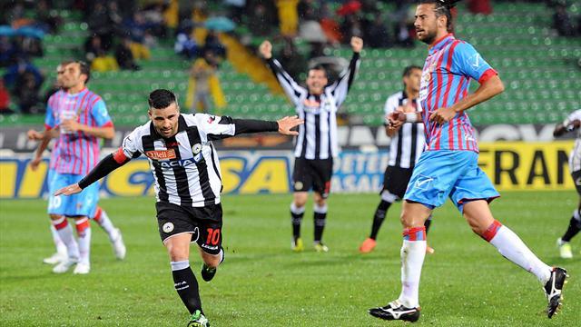 Serie A - Di Natale salva l'Udinese al 92': 2-2 col Catania