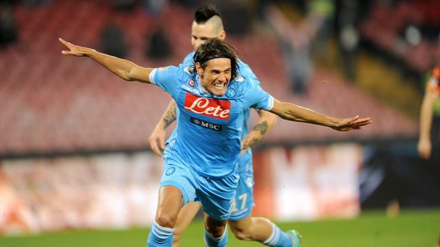 Serie A - Uragano Cavani sulla Roma, Napoli al 3� posto