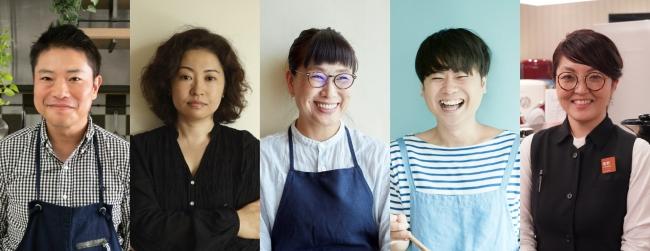 左から 栗原心平さん、サルボ恭子さん、市瀬悦子さん、エダジュンさん、築野由佳