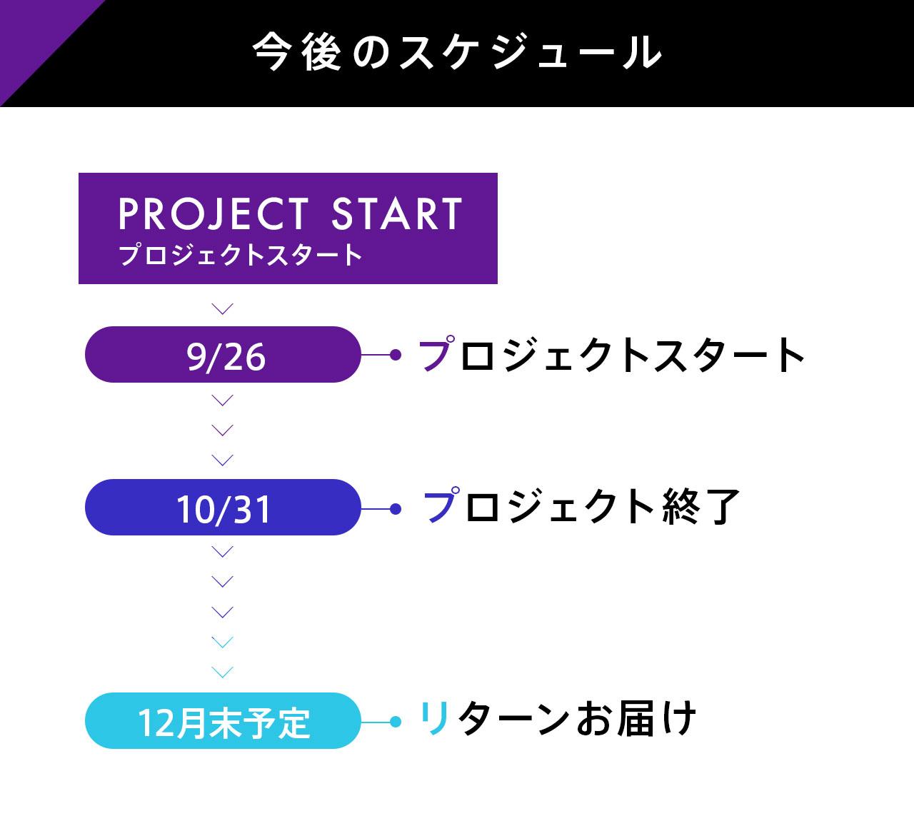 プロジェクトのスケジュール