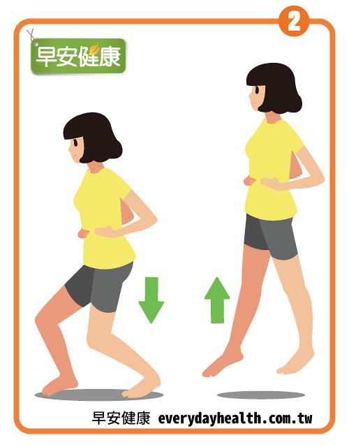 雙手叉腰跳一跳鍛鍊下半身肌力幫助瘦身