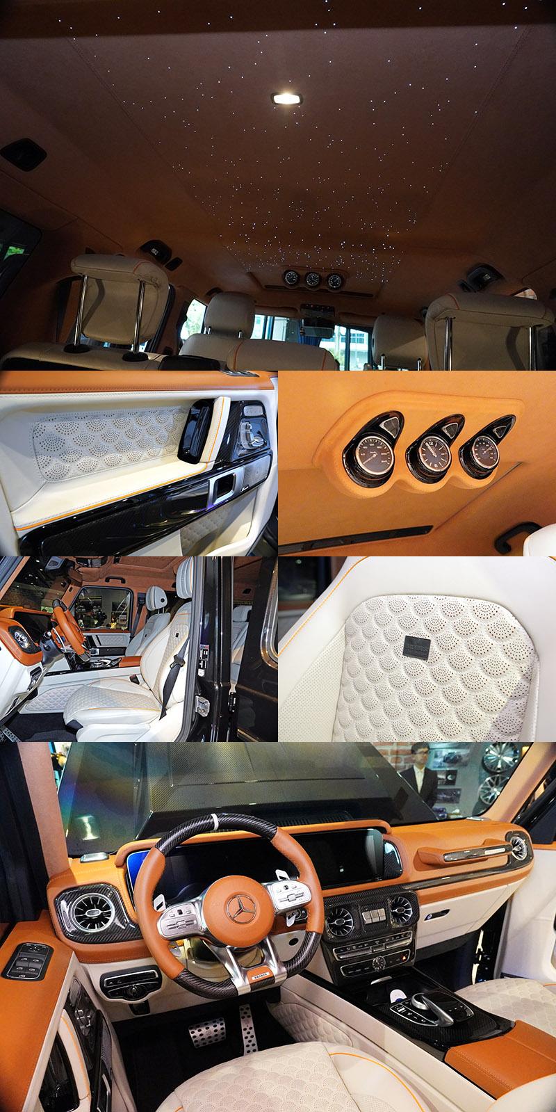 BRABUS提供高度客製化服務,每位車主皆可搭配出最喜愛的內裝氛圍。