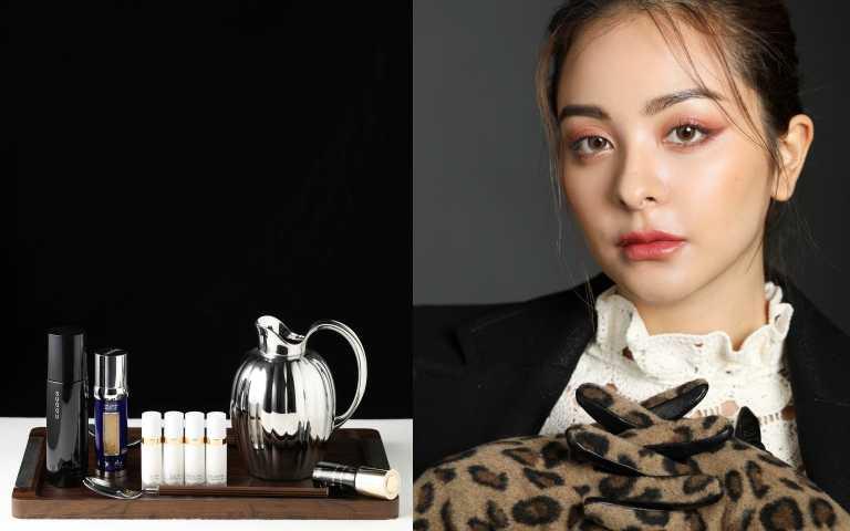 模特兒Bessie(俋思國際),廚具家飾by GEORG JENSEN(圖/戴世平攝影)