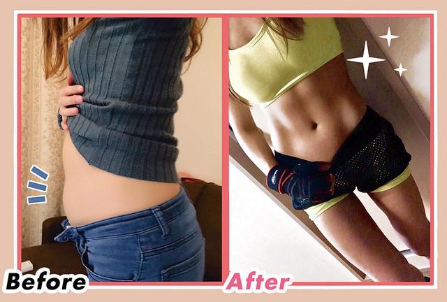 5個月就瘦了10kg,減重超成功!想要擁有美妙身材,祕訣就在於瘦肌鍛鍊♥