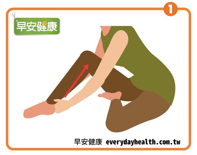 按摩揉捏推壓小腿促進血液循環改善暈眩耳鳴