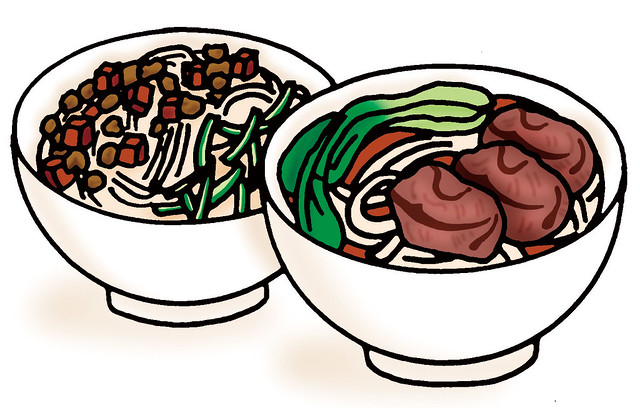 牛肉麵、陽春麵等麵食類熱量