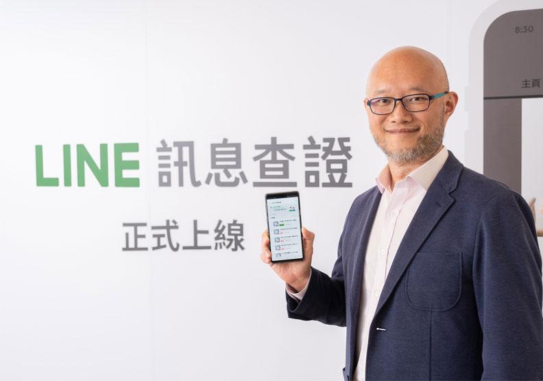 台灣連線以「LINE數位當責計劃」入圍CSR教育推廣組,圖為Line台灣總經理陳立人。Line提供