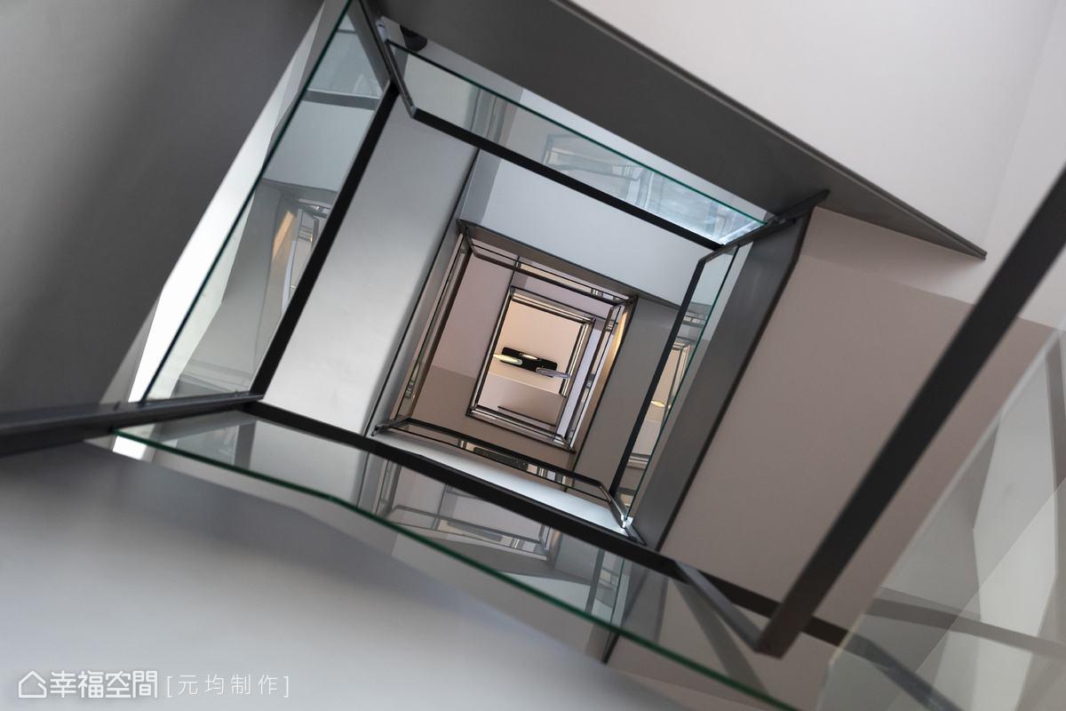 設計師將五層樓與地下一樓的空間以各自分立又統一的方式緊密串連,讓屋主分層體會不同心情與風景,盡情滿足所有生活理想需求。
