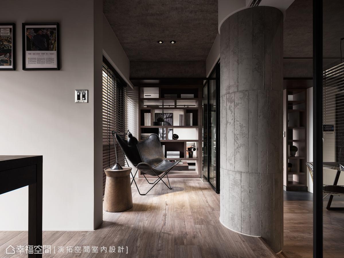 書房另一小角落規劃成工作後休閒放鬆的區域,創造一方生活中的心靈綠洲。
