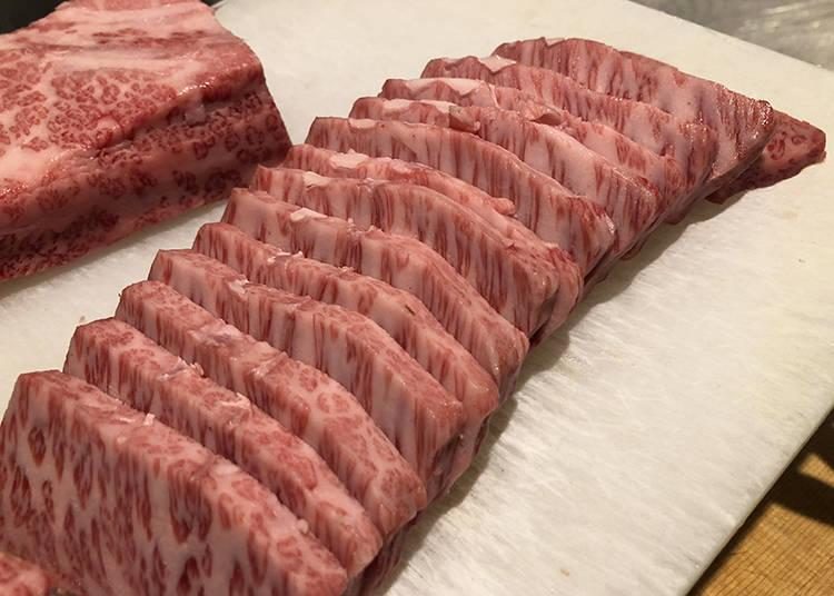 鹽烤和牛(100克 未含稅3,500日圓起)
