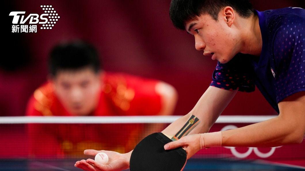 林昀儒在男單四強面對世界球王樊振東表現毫不遜色。(圖片來源/ 達志影像美聯社)
