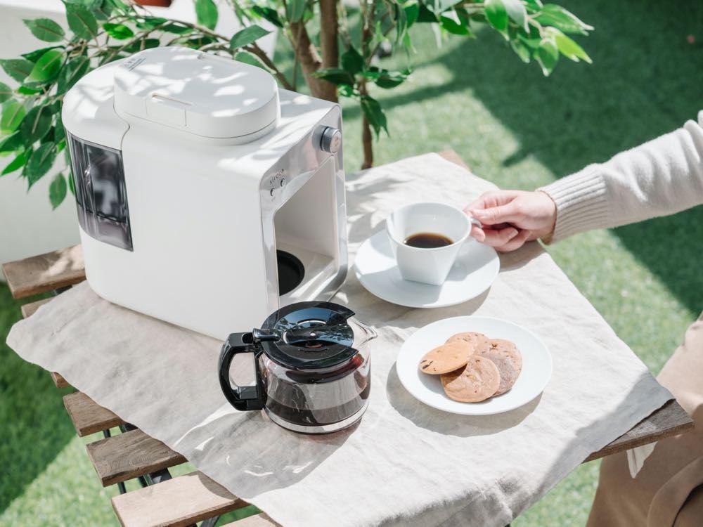日本白色家電美學 siroca 自動研磨咖啡機 台灣帶來獨家晨光白色