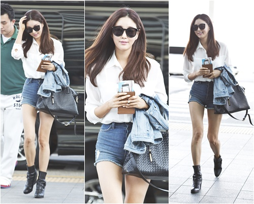 Perfect Body Owner Kim Sa Rang Shows Her Airport Fashion Yahoo Entertainment Singapore