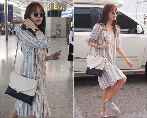 Yoon Eun Hye Shows Natural And Lovely Airport Fashion On Her Way To Thailand Yahoo Celebrity