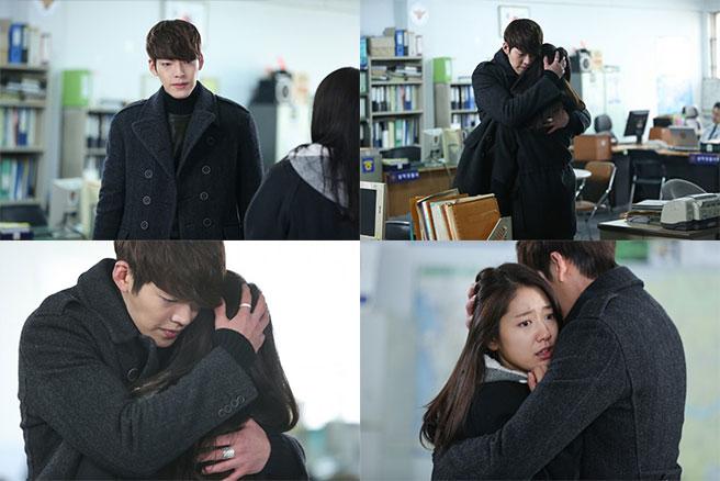 Kim Woo Bin and Park Shin Hye Reunite at a Police Station ... Park Shin Hye And Kim Woo Bin Hug