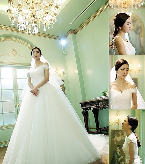 Shin Se Kyung Stuns In Wedding Dresses For When A Man Loves