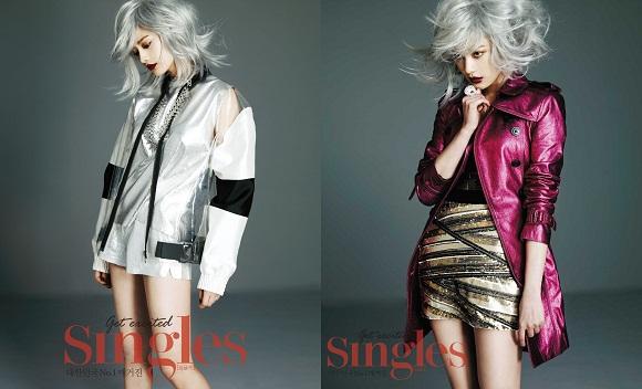 After School娜娜 挑戰突破未來造型 不亞於模特的黃金比例身材引人注目