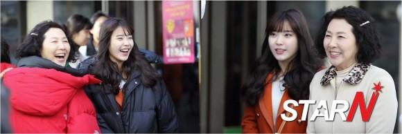 「最佳李順心」高鬥心-IU 拍攝現場照公開 「以假亂真的兩母女」