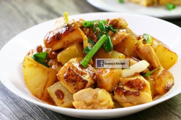 [影片] 甜麵醬白蘿蔔燜煮雞腿肉
