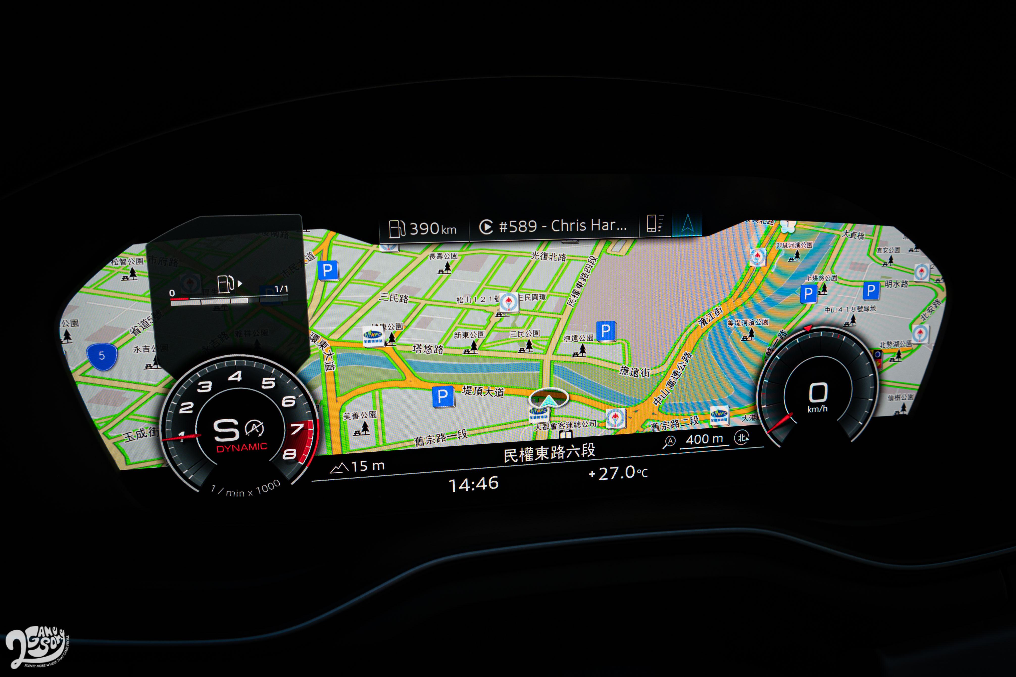 提供多種顯示方式,可將導航圖資顯示於數位儀表。