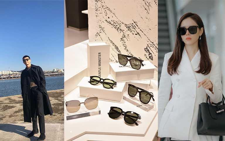 韓劇《愛的迫降》孫藝珍、《梨泰院CLASS》朴敘俊,配戴兩款墨鏡都是2020熱賣款。(圖/GENTLE MONSTER提供,bn_sj2013 IG,TvN)