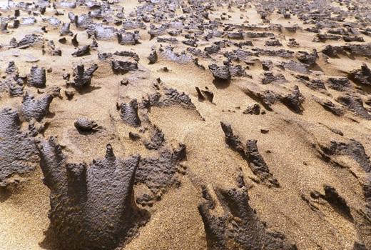 鳥取砂丘砂柱