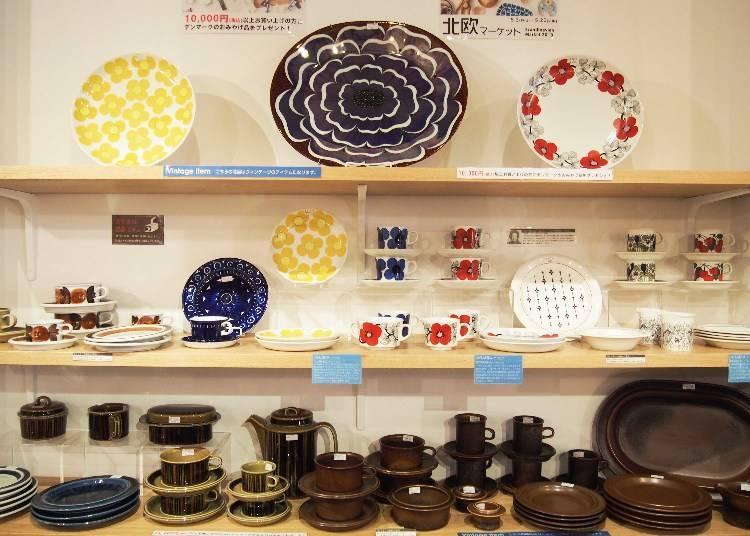 採訪當天碰上千載難逢的北歐市集,ARABIA的復古風餐具