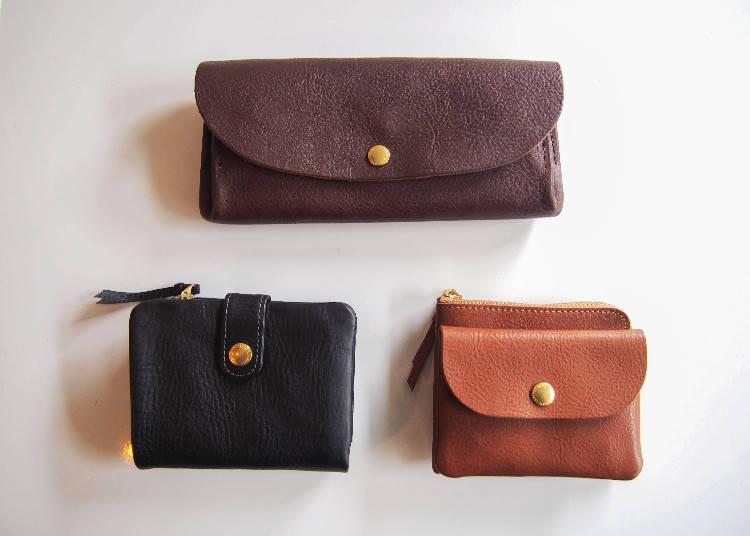 CINQ原創採義大利皮革手工製錢包,長夾19980、2折短夾17280、小錢包14040日圓