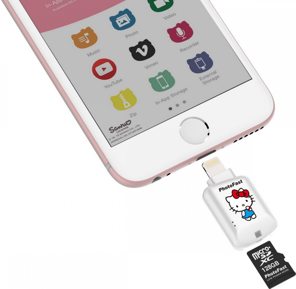 Hello Kitty來助陣!讓你的iPhone也能插記憶卡