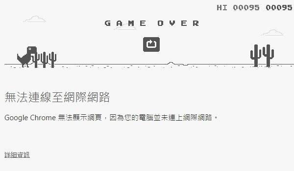 網路斷線才能玩!超有趣的 Google 小遊戲!