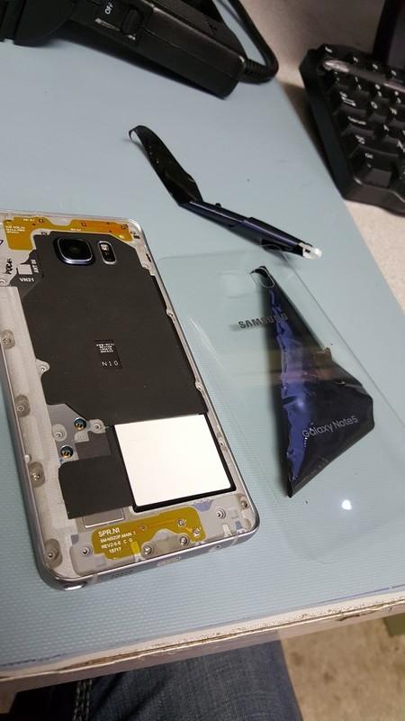 神手指導 Note 5零元改裝透明玻璃背蓋