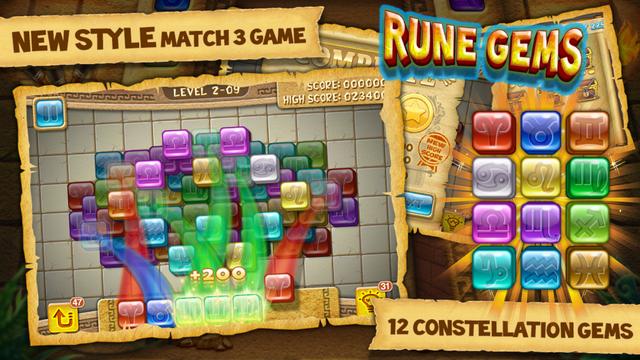 Rune Gems - Deluxe 寶石星陣 - 豪華版,app說明由三嘻行動哇@Dr.愛瘋所提供