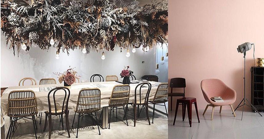 現場展示多種風格空間、傢俱,官網也有許多選擇可以電洽店家。(圖/InIn home Facebook)