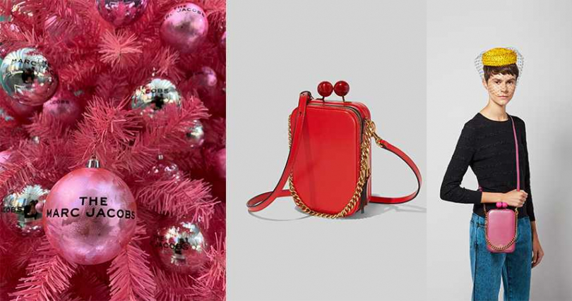 Marc Jacobs The Vanity復古長型圓珠釦包全新系列上市。(圖/MARC JACOBS提供)