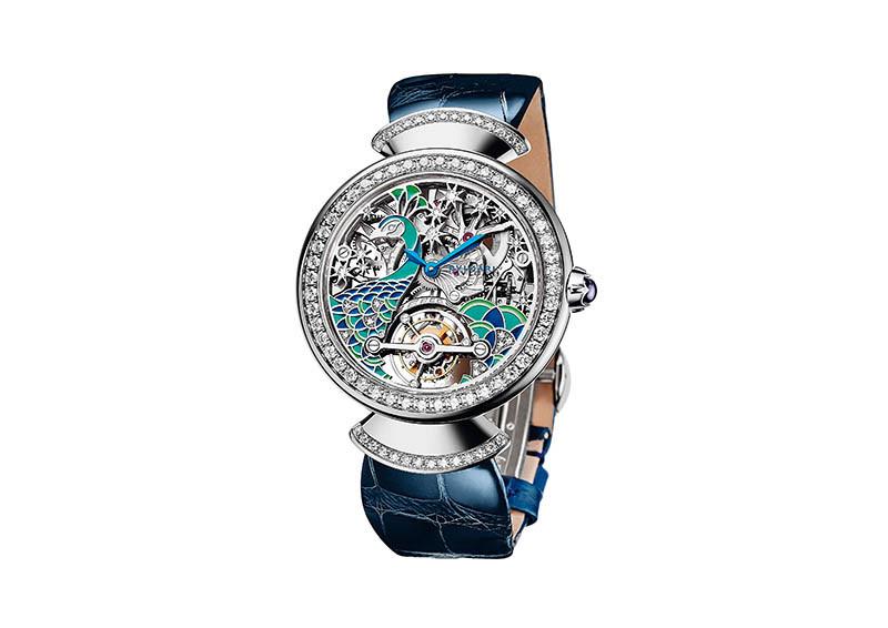 Divas' Dream Tourbillon孔雀陀飛輪腕錶,全球限量50只,定價:4,710,000元(圖/寶格麗提供)