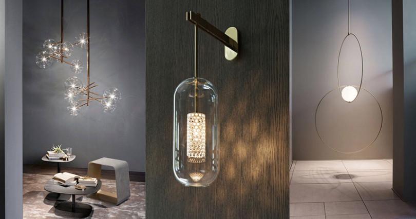 店裡有許多特殊造型燈飾,利用光影跟線條就能創造高質感空間。(圖/InIn home Facebook)