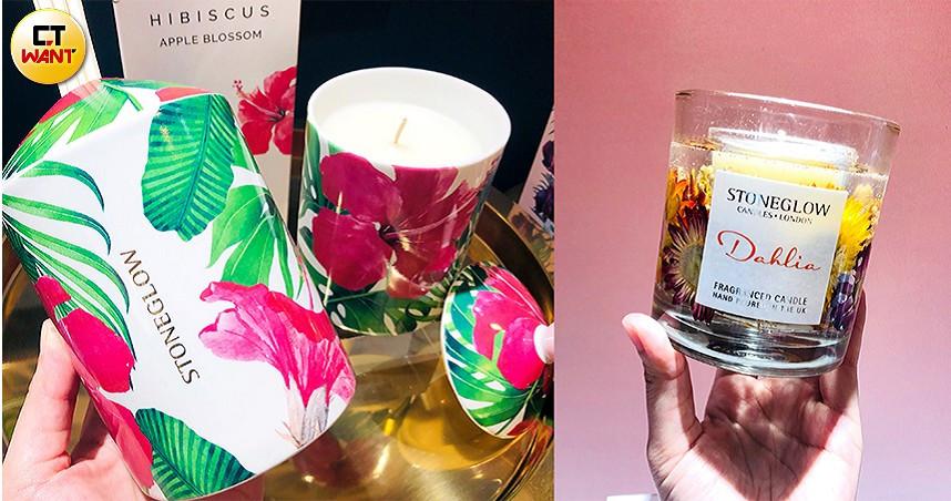 超漂亮的包裝,加上滿滿度假感的香氛及蠟燭,讓人好想收藏。(圖/彭靖芸攝)