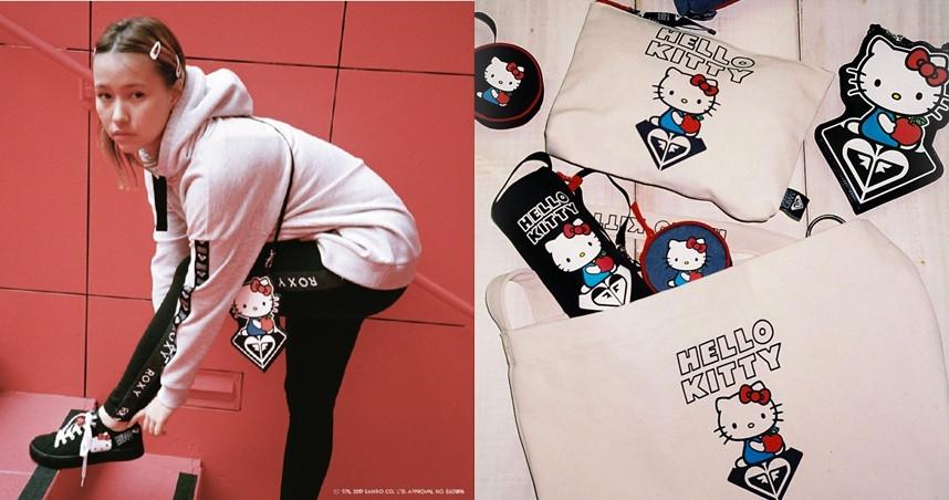 女性衝浪領導品牌ROXY與三麗鷗攜手,打造一系列聯名商品。(圖/ROXY JAPAN)