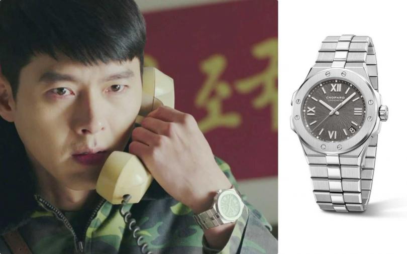 Chopard Lucent Steel A223精鋼錶殼,灰色錶盤,錶徑41毫米,防水100米,搭載自動上鏈機械機芯 01.01-C,獲瑞士官方天文台認證(COSC),動力儲存60小時。型號: 298600-3002/428,000元(圖/NEFLIX,品牌提供)