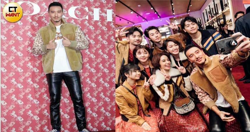 王陽明出席COACH時尚派對(圖/焦正德攝影、COACH提供)