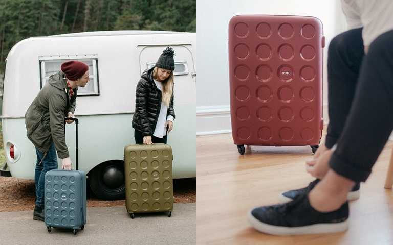 LOJEL跨界撞系VITA「餅乾箱」,推出秋季限定「豆沙玫」色,與百貨櫃為多樣優惠活動。(圖/LOJEL Taiwan)
