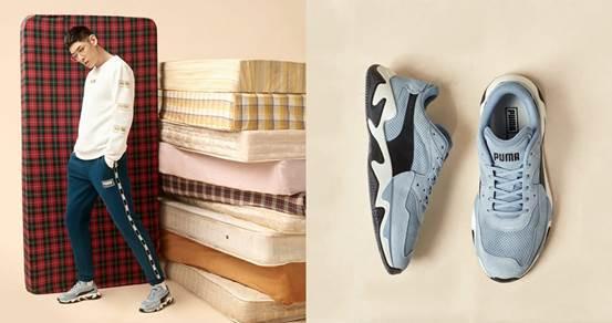 運動型男以PUMA STORM系列鞋款、Holiday Pack服飾單品穿搭出新一季的街頭時髦Style!(圖/PUMA)