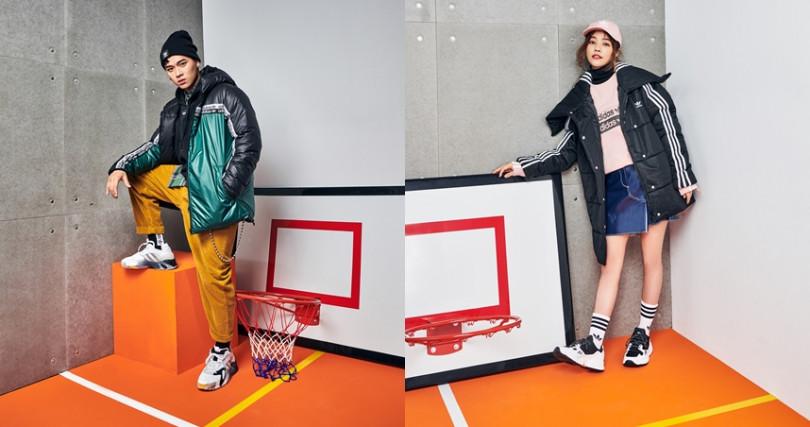 在年輕世代間有高人氣的饒舌新星高爾宣和女神許路兒,穿出他們的冬季羽絨時尚!(圖/Loro Piana、adidas Originals)