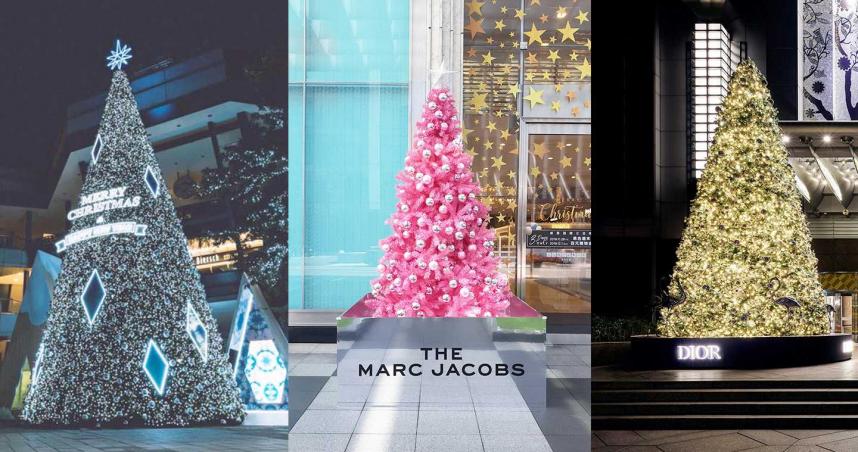 新光三越、101、信義微風,三顆浮誇耶誕樹超好拍。(圖/各品牌提供)