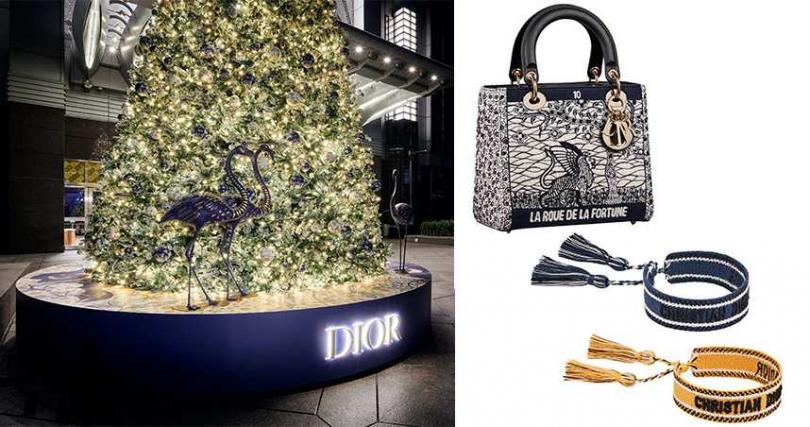 Lady Dior塔羅刺繡中型提包售價19萬,J'adior編織手環(兩入) 售價14500。(圖/DIOR提供)