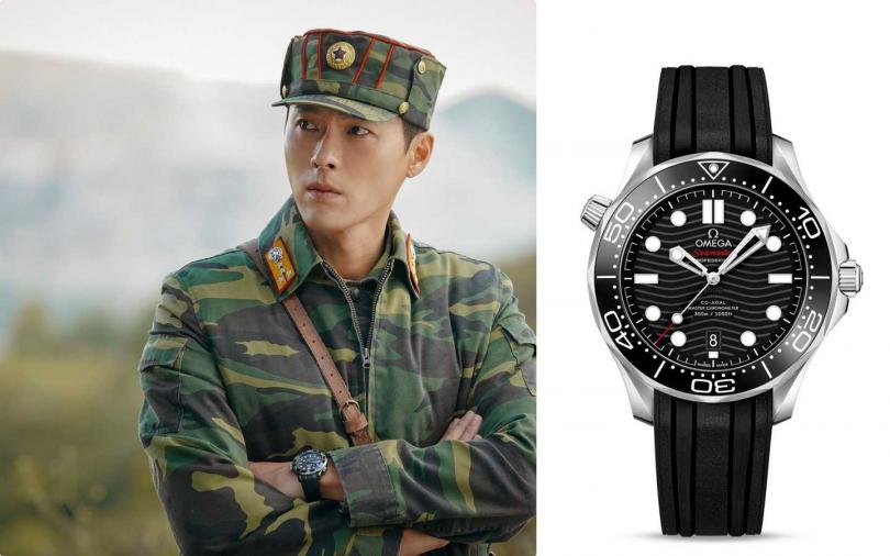 OMEGA「Seamaster海馬」系列300公尺同軸擒縱大師天文台腕錶,不鏽鋼錶殼搭配陶瓷錶圈╱159,000元。(圖/NEFLIX,品牌提供)