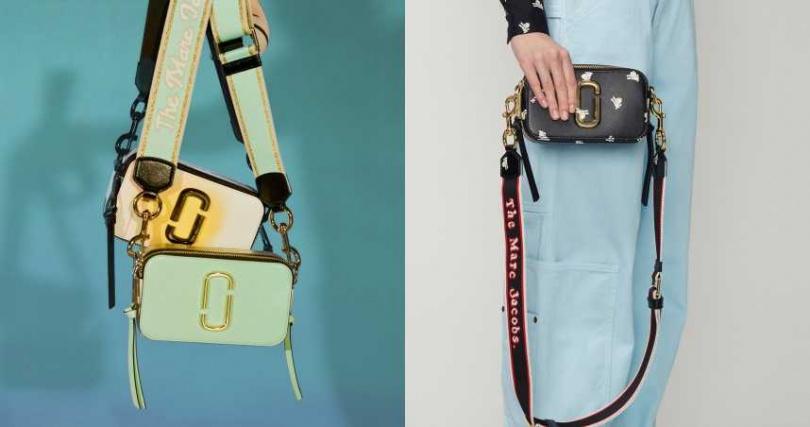 MARC JACOBS Snapshot相機包推出「噴彩塗鴉」和「厭世小羊」的圖騰新款。Marc Jacobs 噴彩塗鴉Snapshot和(右)厭世小羊款/16,900元。(圖/品牌提供)