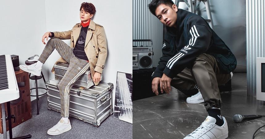 張軒睿(左)、高爾宣。(圖/adidas Originals提供)