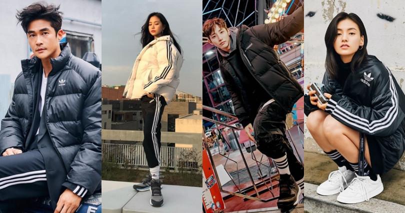 韓流明星的羽絨私服Look!混搭風格將時尚穿出獨特樂趣。(圖/翻攝自adidas Originals Korea IG、孫娜恩IG、李秀赫IG)